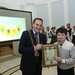 DCIF logo winner Charley Tyndall with DCC Lord Mayor Cllr Naoise OMuir°
